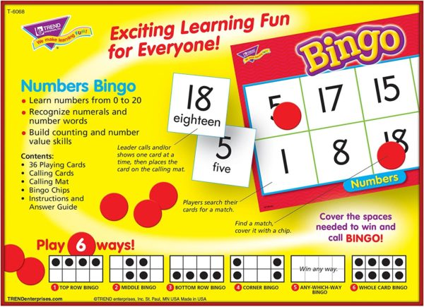 Bingo Game Numbers Counting | First Class Office Online Store 3
