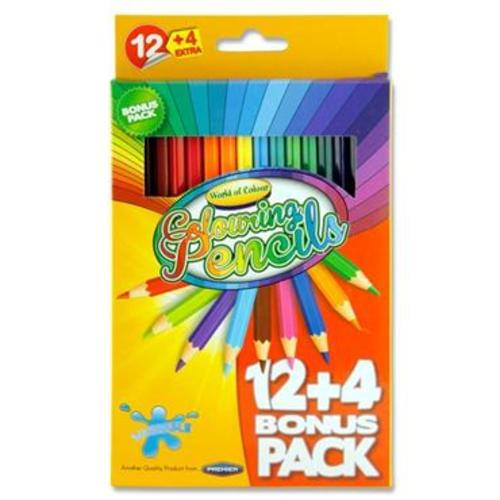 WOC Pencils (12+4) Colouring Pencils | First Class Office Online Store 2