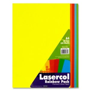 Bright/Bold Coloured Paper Assorted A4 (100pk) Coloured Paper A4 | First Class Office Online Store