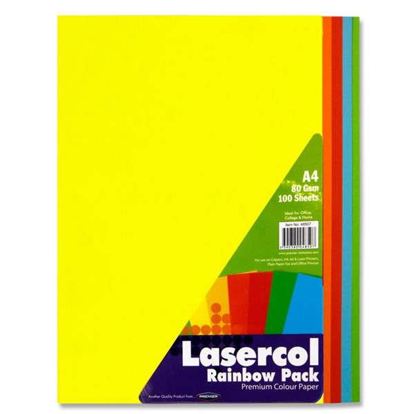 Bright/Bold Coloured Paper Assorted A4 (100pk) Coloured Paper A4 | First Class Office Online Store 2