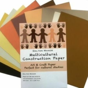 A4 Multicultural Sugar Paper (50pk) Multicultural Paper | First Class Office Online Store