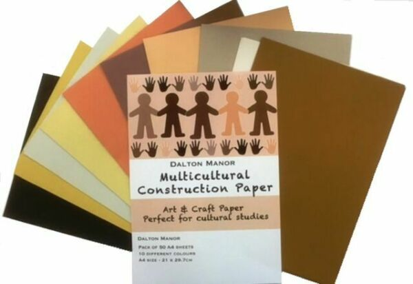 A4 Multicultural Sugar Paper (50pk) Multicultural Paper | First Class Office Online Store 2