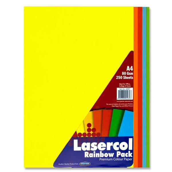 Coloured Paper A4 Bright Assorted (250pk) Coloured Paper A4 | First Class Office Online Store 2
