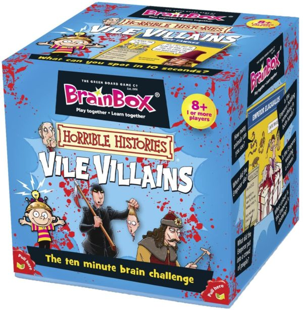 Brain Box Game Vile Villains 8+ History | First Class Office Online Store 2