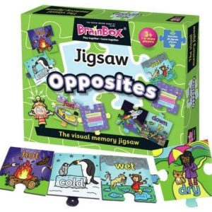 Brainbox Jigsaw Opposites English Literacy Games/Language Cards | First Class Office Online Store
