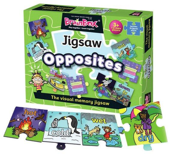 Brainbox Jigsaw Opposites English Literacy Games/Language Cards   First Class Office Online Store 2