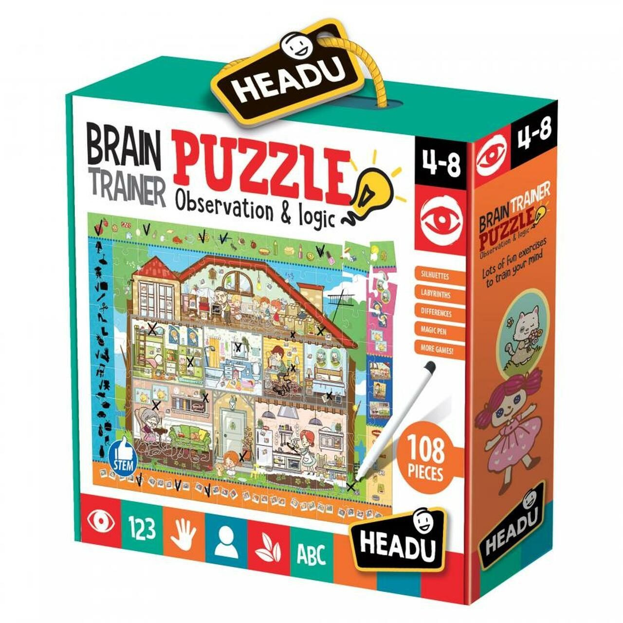 Headu Brain Trainer Puzzle 4-8 yrs Puzzles | First Class Office Online Store