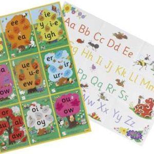 Jolly Phonics Alternative Spelling & Alphabet Posters Phonics | First Class Office Online Store