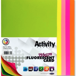 Assorted Fluorescent Card Premier A3 Card | First Class Office Online Store