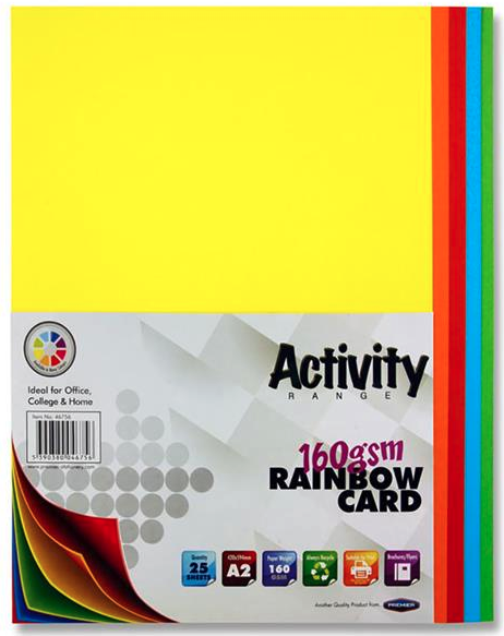 Assorted Coloured Card Premier A2 Card | First Class Office Online Store 2