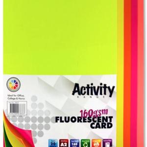 Assorted Fluorescent Card Premier A2 Card | First Class Office Online Store