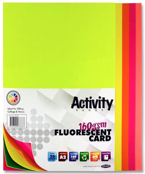 Assorted Fluorescent Card Premier A2 Card | First Class Office Online Store 2