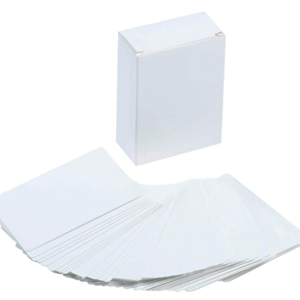 12×4 White Flash Card Flash Card | First Class Office Online Store