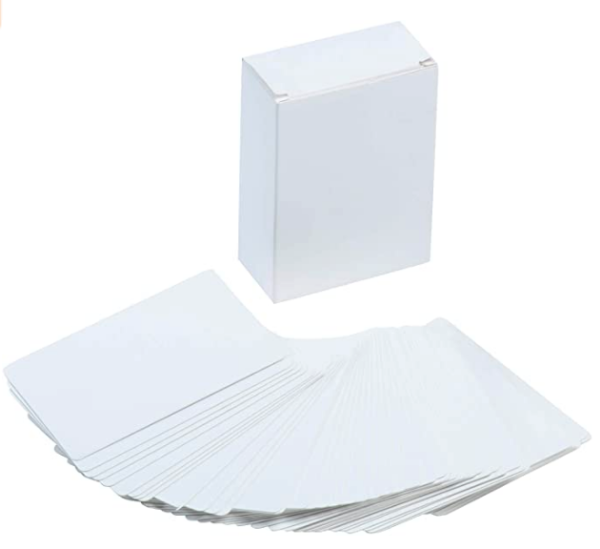 12×4 White Flash Card Flash Card | First Class Office Online Store 2