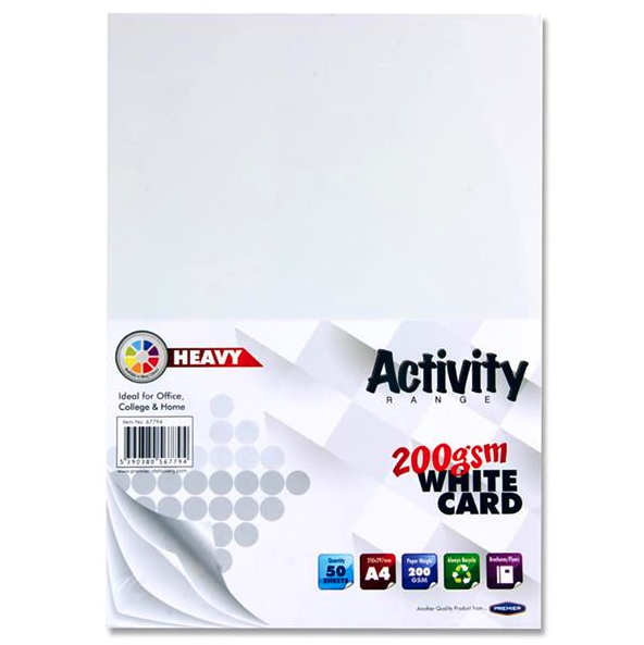 White Card Premier 200gsm A4 Card Small Packs | First Class Office Online Store 2