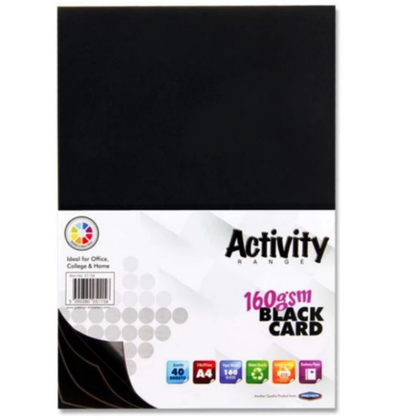 Black Card Premier A4 Card Small Packs   First Class Office Online Store 2