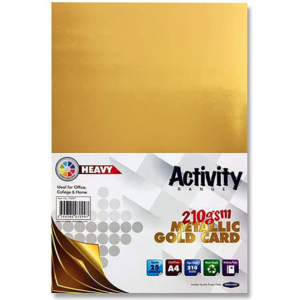 Gold Card A4 Card Small Packs | First Class Office Online Store