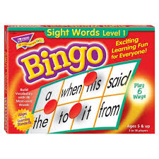 Sight Words Level 1 Bingo Game English Literacy Games/Language Cards | First Class Office Online Store