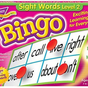 Sight Words Level 2 Bingo Game English Literacy Games/Language Cards | First Class Office Online Store