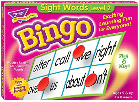 Sight Words Level 2 Bingo Game English Literacy Games/Language Cards   First Class Office Online Store 2