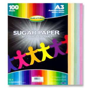 A3 Coloured Sugar Paper (q00) WOC Sugar Paper | First Class Office Online Store