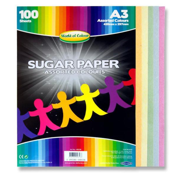 A3 Coloured Sugar Paper (q00) WOC Sugar Paper | First Class Office Online Store 2