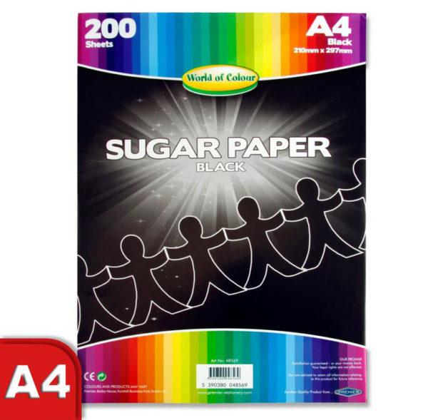 A4 Black Sugar Paper (200) WOC Sugar Paper | First Class Office Online Store 2