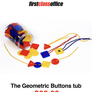 Geometric Buttons Tub Lacing & Needle Work | First Class Office Online Store