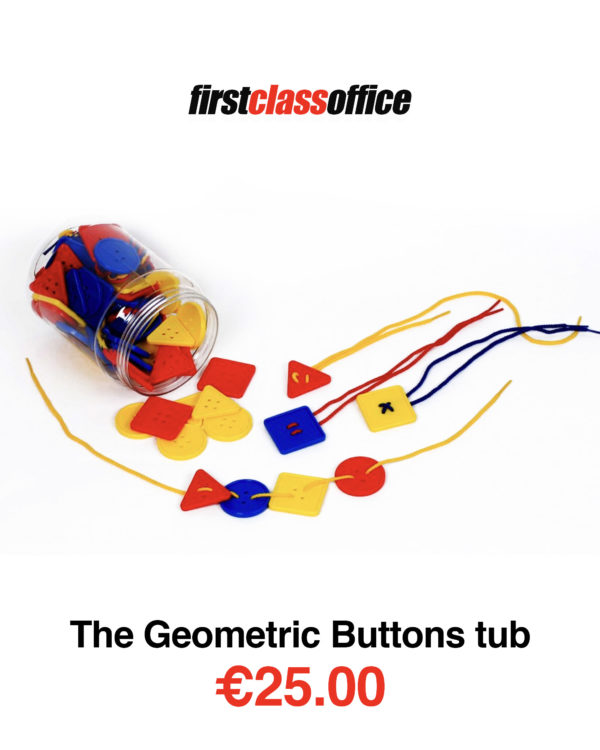 Geometric Buttons Tub Lacing & Needle Work   First Class Office Online Store 2