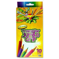 Supreme Jumbo Tri (10) Colouring Pencils | First Class Office Online Store