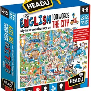 Headu Easy English The City 4-8 yrs Puzzles   First Class Office Online Store