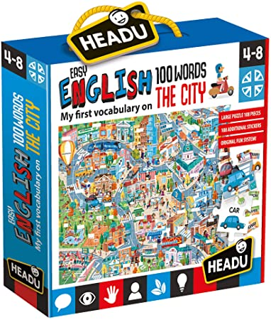 Headu Easy English The City 4-8 yrs Puzzles | First Class Office Online Store 2