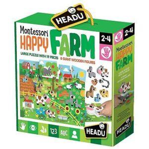 Headu Montessori Happy Farm 2-4 yrs Puzzles | First Class Office Online Store
