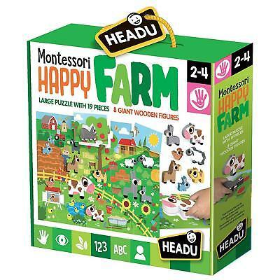 Headu Montessori Happy Farm 2-4 yrs Puzzles   First Class Office Online Store 2